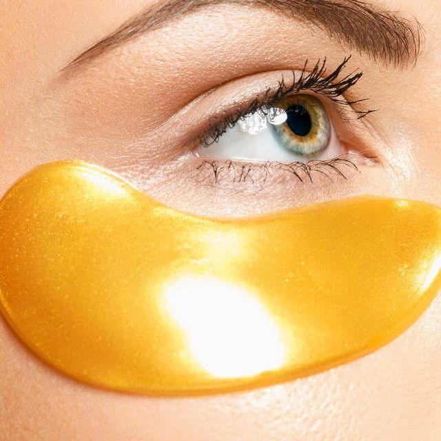 Almohadillas oculares de hidrogel en oro de 24 quilates, almohadillas antienvejecimiento, 5x2 uds.