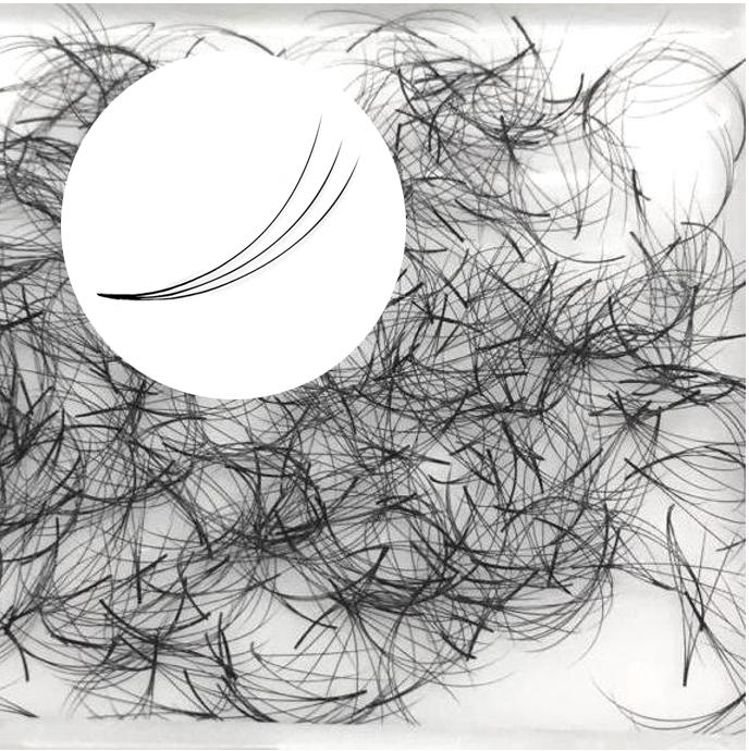 500 abanicos de pestañas pre-fabricados, 3D sin nudos, ideal para la técnica de volumen