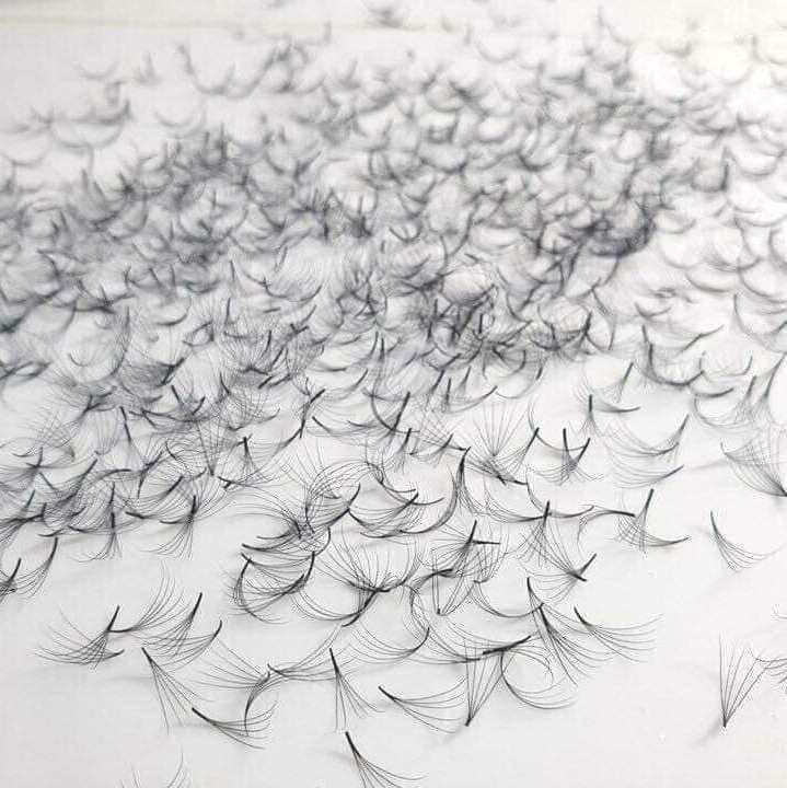500 Pestañas flare, muy finas para extensiones de pestañas, 5D sin nudos, ideal para técnica de volumen
