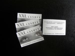 1000 tarjetas de visita de XXL Lashes con su nombre