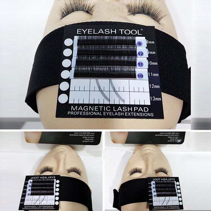 Bandeau con almohadilla de pestañas magnética para la extensión de pestañas