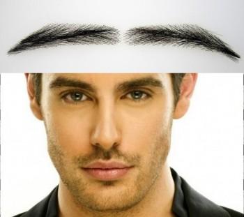 Cejas pobladas adhesivas y semipermanentes para hombre. 100% hechas de pelo natural, segundos a un precio reducido