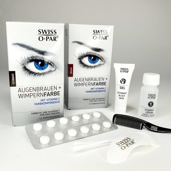 Tinte para cejas y pestañas 2.0 de Swiss o-Par, a prueba de agua, de color resistente