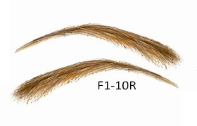 Cejas artificiales, semi permanentes de pelo 100 % natural para pegar - hecho a mano, F1-10R
