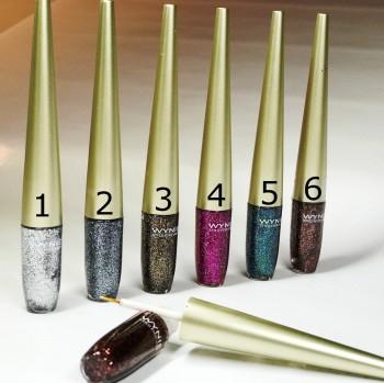 Glitter Eyeliner para el maquillaje festivo shimmer, en 6 colores diferentes