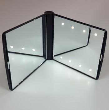 Espejo de bolsillo de alta calidad con iluminación LED integrada