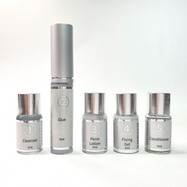 Lociones del Super Lash Lift Kit, botellas individuales recargables del kit de levantamiento de pestañas