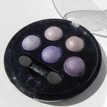 Sombras de ojos con minerales horneadas - violeta