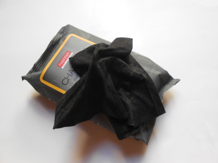 Toallitas de limpieza de removedor de maquillaje de carbón Purederm, toallitas desmaquillantes faciales