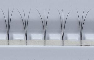 Pestañas W - 300 uds. | 0,15 mm de espesor | de 8 mm de longitud | C-Curl
