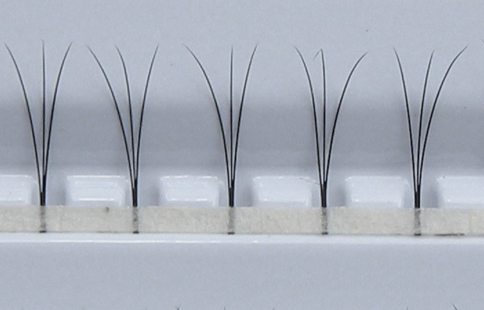Pestañas W - 300 uds. | 0,10 mm de espesor | de 8 mm de longitud | D-Curl
