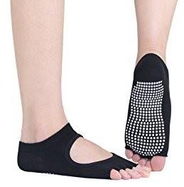 2 pares Calcetines de yoga antideslizantes, con dedos al descubierto y con agarre antideslizante
