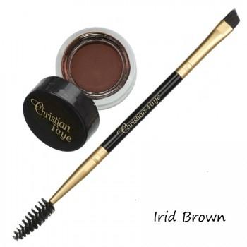 Pomada DIP semipermanente para cejas,incl. cepillo doble - irid brown