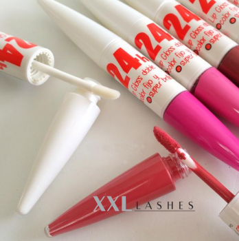 24 hr LIP GLOSS, 2-in-1, luminous colours, high gloss