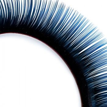 Pestañas Mink, bicolor, negro/azul, 10 mm