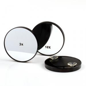 Espejo de cosmética de aumento con ventosas, aumento de 10 veces