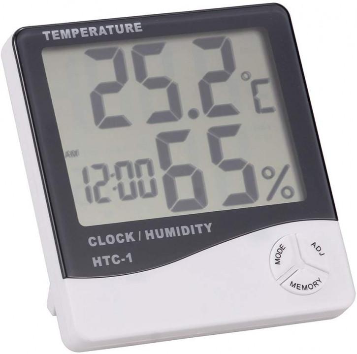 Termómetro higrómetro digital con pantalla LCD, medidor de temperatura y humedad