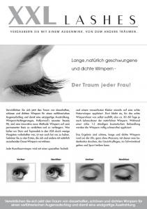 """100 pcs Flyer de promoción A5 - """"ojo"""" - alemán"""