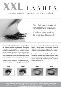 """100 pcs Flyer de promoción A5 - """"ojo"""" - francés"""