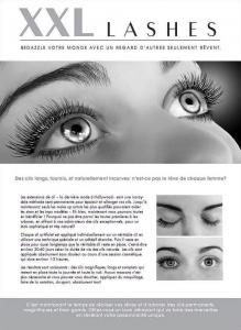 """100 pcs Flyer de promoción A5 - """"cara"""" - francés, con dirección propia"""