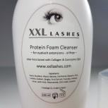XXL Lashes Foam Cleanser, libre de aceite y de alcohol Espuma Pestañas, 200 ml tamaño salón