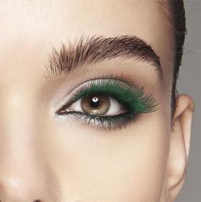 Máscara de pestañas azul y verde, base agua, rimel con un diseño chic adecuado para extensiones de pestañas