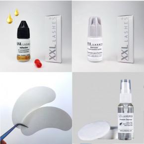 Mini Kit XXL Lashes para extensiones de pestañas, equipo básico para estilistas principiantes con manual y productos de calidad