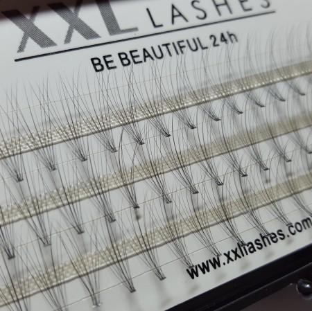 """10 D Pestañas Volumen Flare 60pc, sin nudos, C-Curl, 0,05 mm """"finas"""", extremadamente finas - también llamadas """"hot melting lashes"""""""