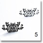 Pestañas de silueta de papel con motivos