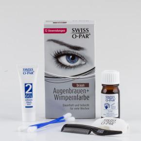 Set de tinte de cejas y pestañas, sistema de coloración completo con material suficiente para 10-12 aplicaciones,