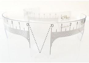 Regla para cejas reutilizable, diseñada para formar y posicionar las cejas correctamente